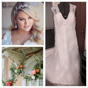Lace embellished wedding gown